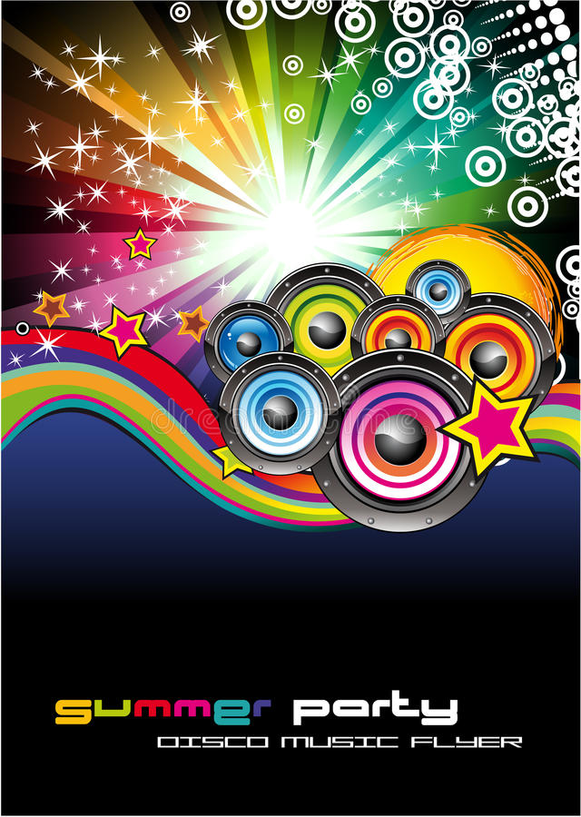 Fond de musique pour des aviateurs de disco illustration stock