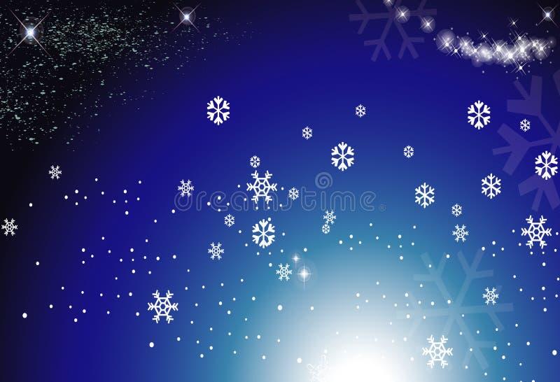 Fond de neige illustration stock