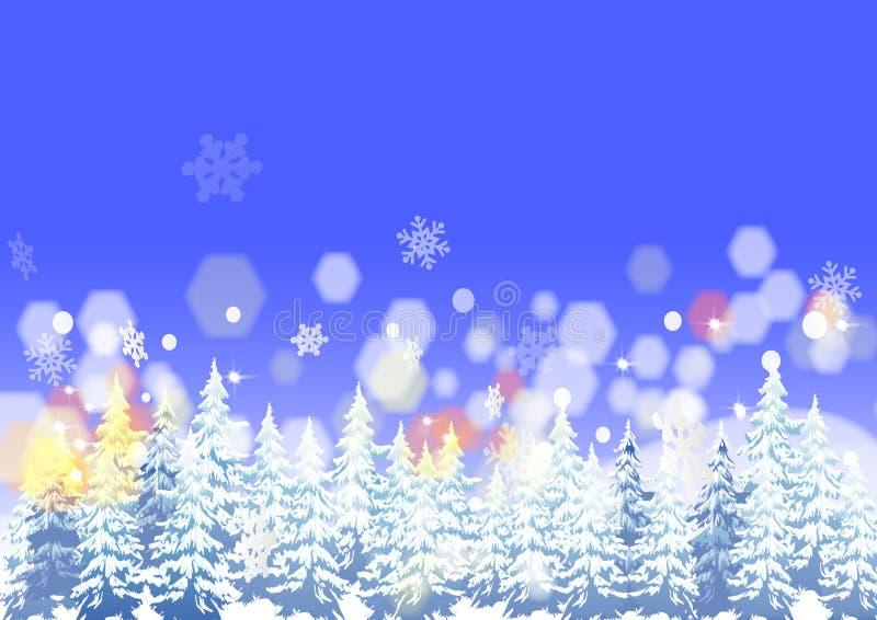 Fond de neige illustration de vecteur