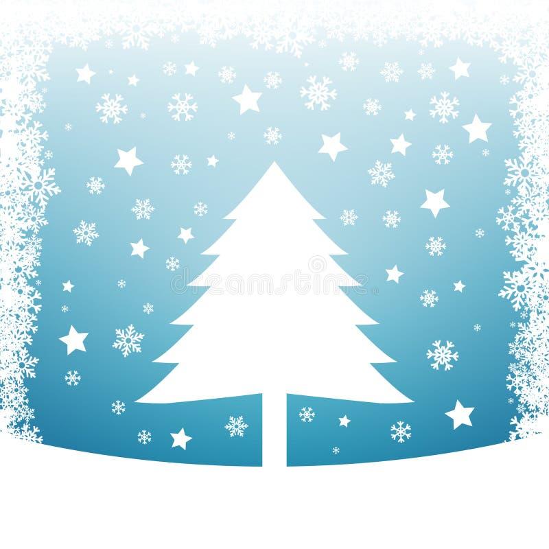 Fond de neige d'hiver illustration libre de droits