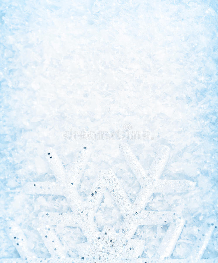 Fond de neige de Noël, cadre de flocon de neige image stock
