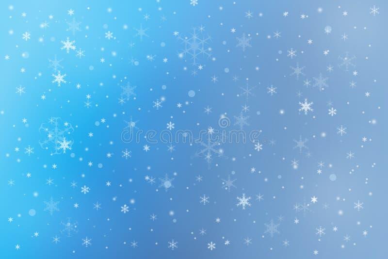 Fond de neige de vacances d'hiver illustration libre de droits