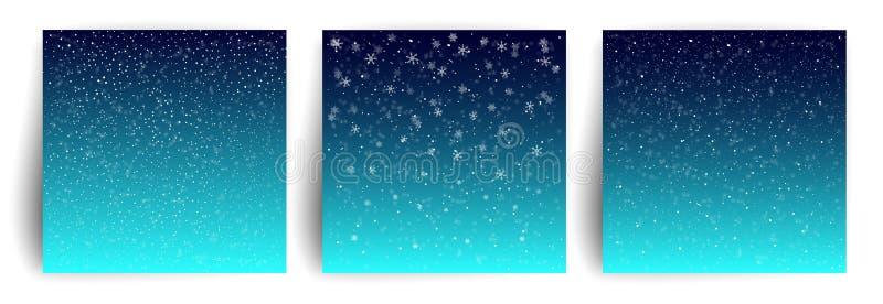 Fond de neige Placez du calibre de salutation de design de carte de Noël pour l'insecte, bannière, invitation, félicitation Noël  illustration de vecteur