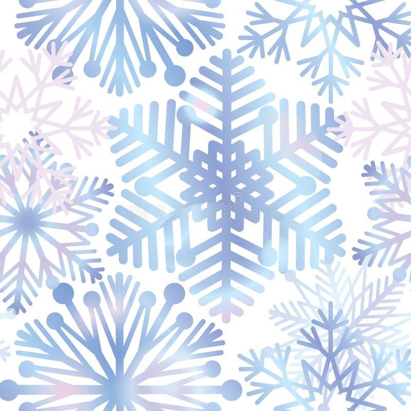Fond de neige Texture de flocons de neige Neige bleue tombant sur le blanc illustration de vecteur