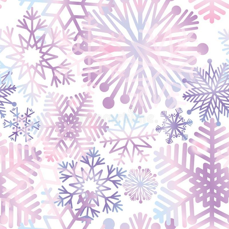 Fond de neige Texture de flocons de neige Neige bleue tombant sur le blanc illustration libre de droits
