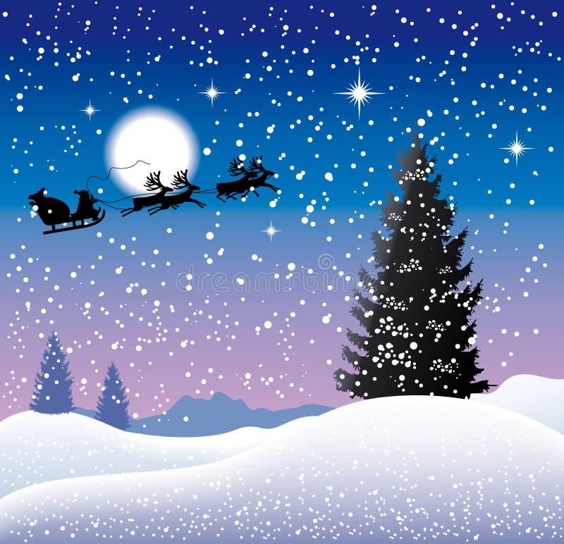 Fond de Noël. illustration stock