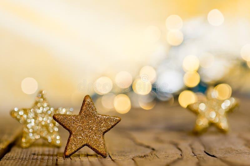 Fond de Noël avec des étoiles photos stock