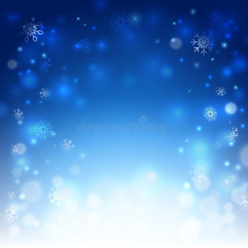 Fond de Noël avec des flocons de neige illustration stock