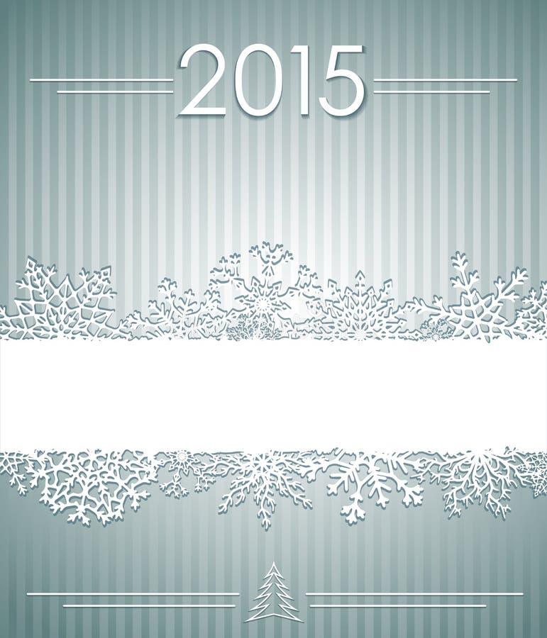 Fond de Noël avec des flocons de neige illustration de vecteur
