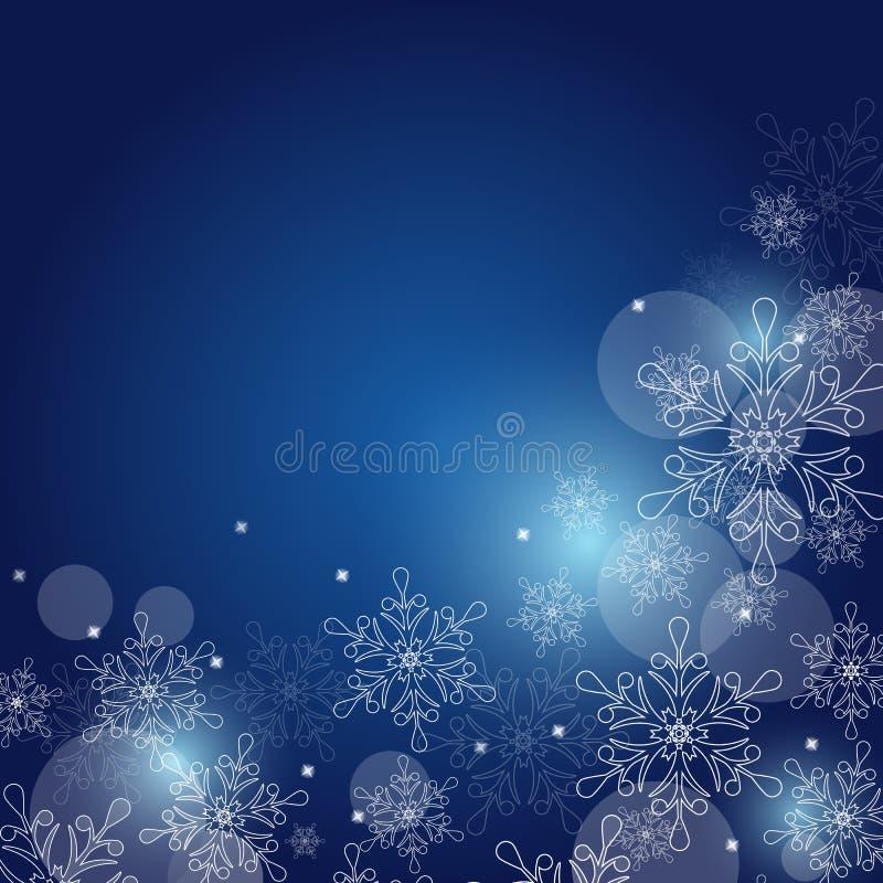 Fond de Noël avec des flocons de neige et espace pour le texte Vecteur illustration de vecteur