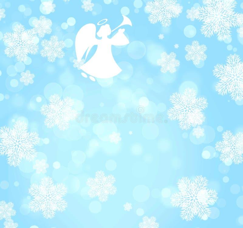Fond de Noël avec l'ange illustration de vecteur