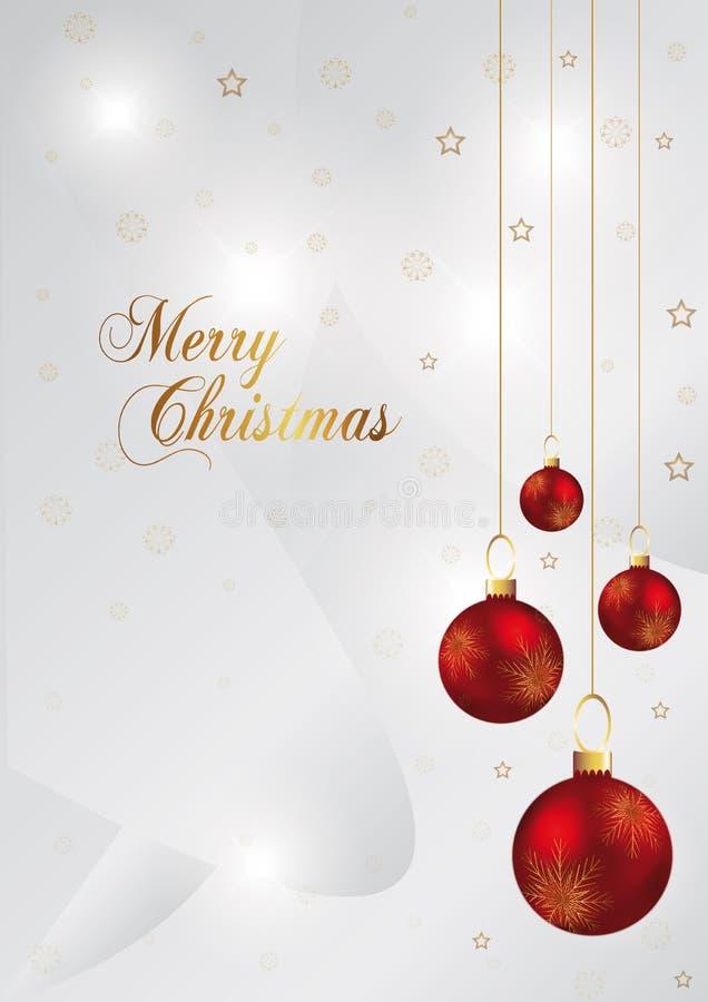 Fond de Noël avec la bille rouge illustration libre de droits