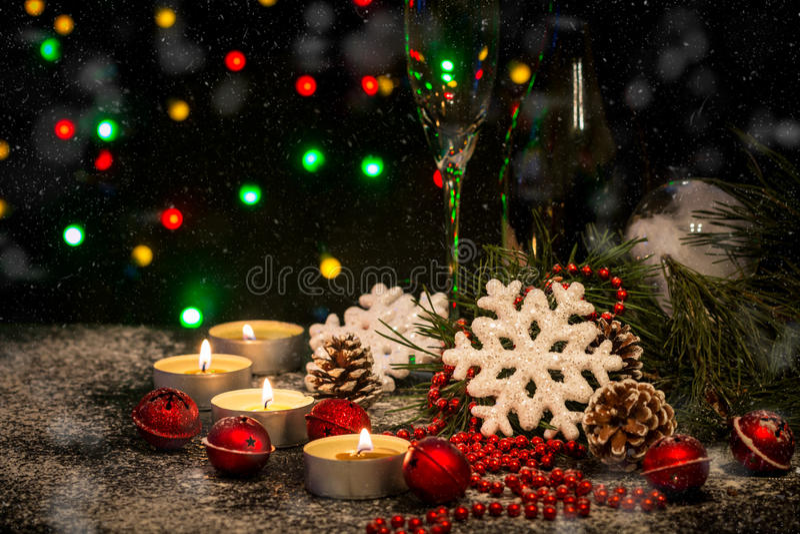 Download Fond De Noël Avec La Décoration De Fête Photo stock - Image du champagne, événement: 77158922