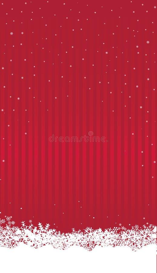 Fond de Noël avec la neige Chutes de neige heureuses Wa de vacances d'hiver illustration stock