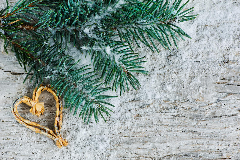 Fond de Noël avec le branchement de sapin photo libre de droits