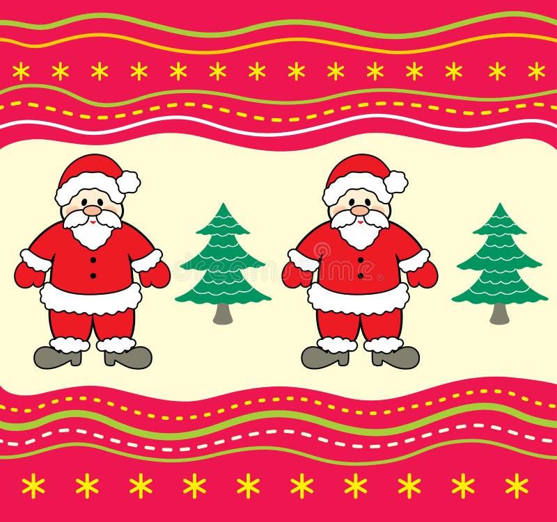 Fond de Noël avec le père noël. illustration de vecteur