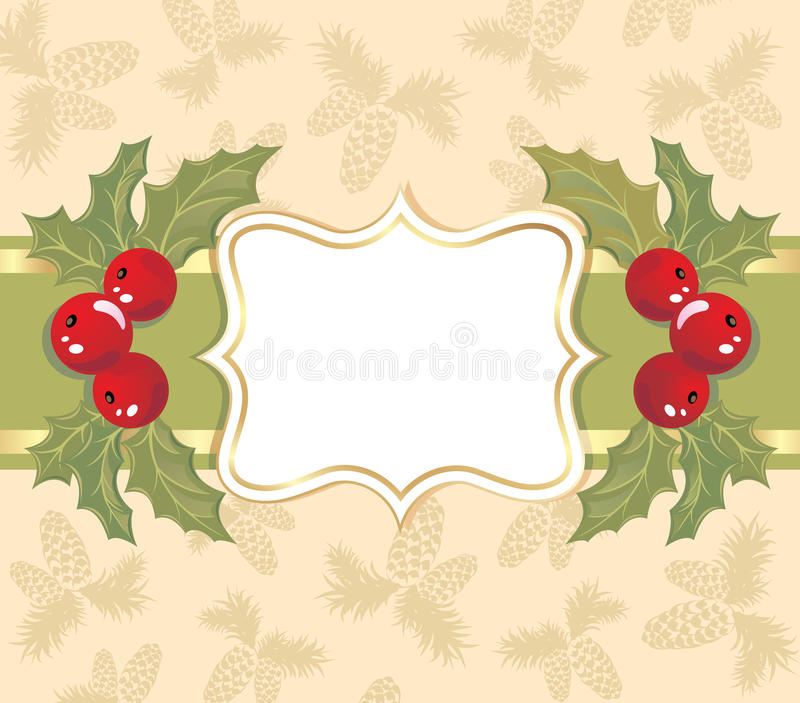 Fond de Noël avec une trame. illustration stock