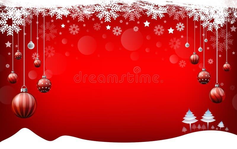Fond de Noël, bonne année rouge de fond illustration de vecteur