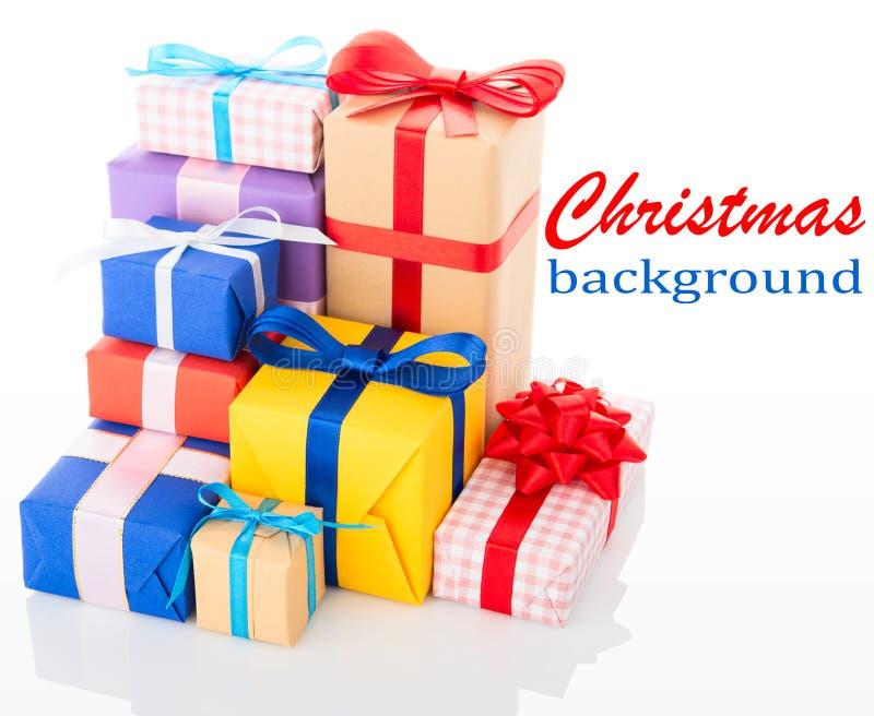 Fond de Noël. Cadres de cadeau images libres de droits