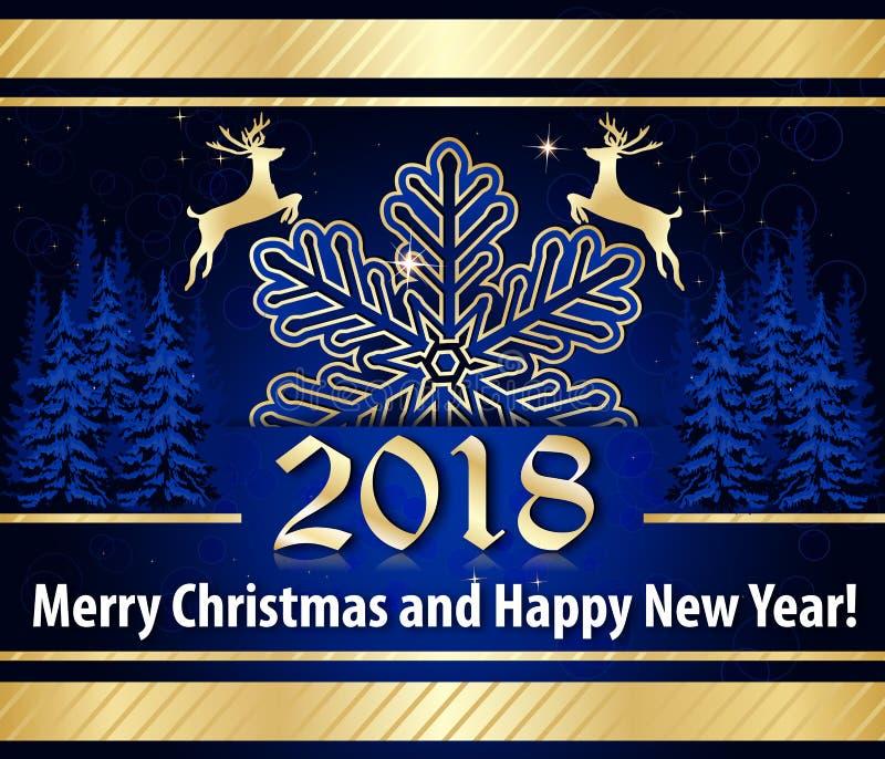 Fond de Noël/carte de voeux bleus élégants pour des sociétés illustration libre de droits