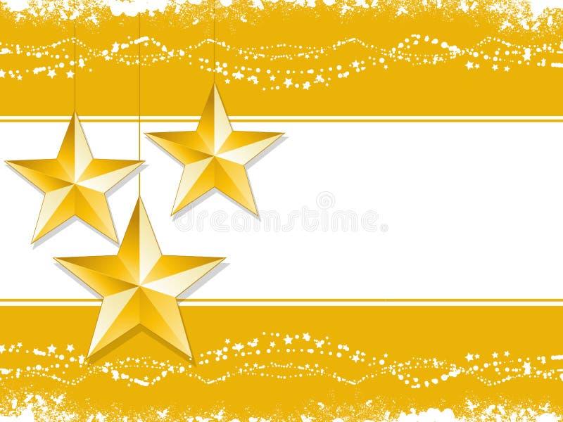 Fond de Noël d'étoile d'or illustration libre de droits