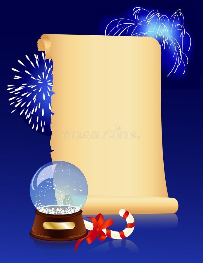 Fond de Noël d'Olfashioned illustration de vecteur