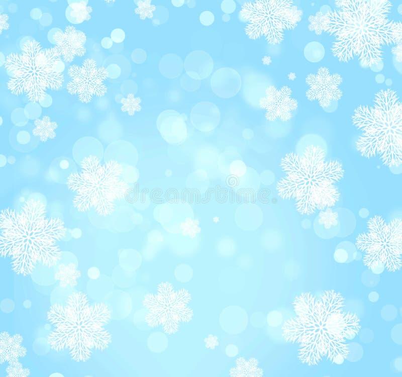 Fond de Noël de couleur bleue illustration de vecteur