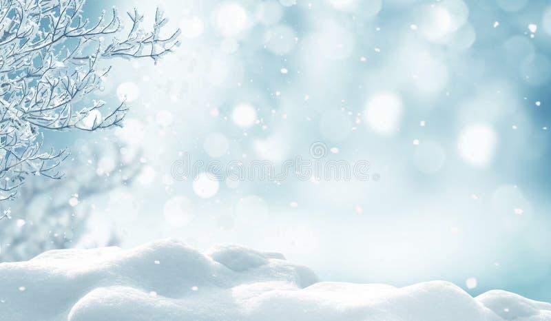 Fond de Noël de l'hiver photos stock