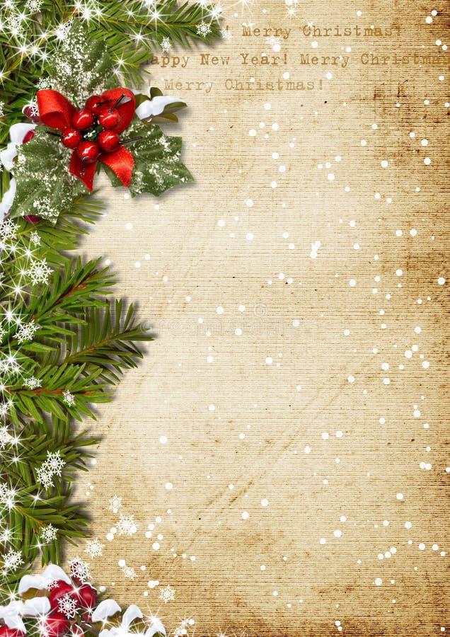 Fond de Noël de vintage illustration stock