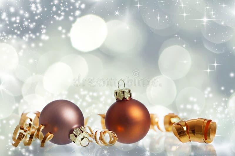 Fond de Noël de vintage avec des boules de Noël photo stock