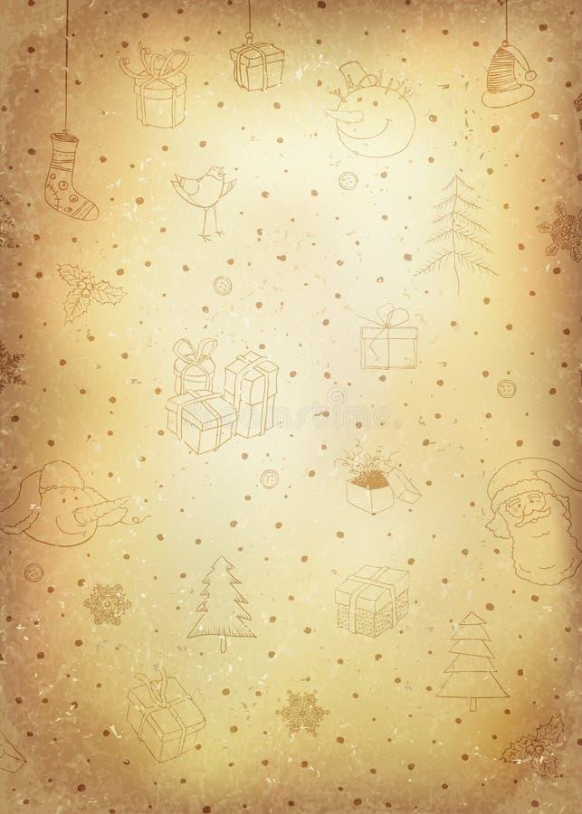 Fond de Noël de vintage Vecteur illustration de vecteur