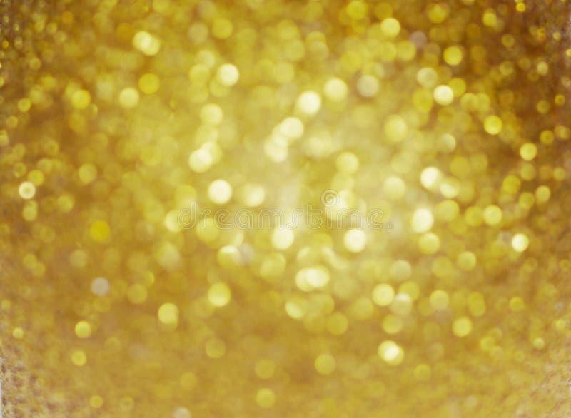 Fond de Noël Fond Defocused de scintillement d'abrégé sur vacances d'or Bokeh trouble photo stock