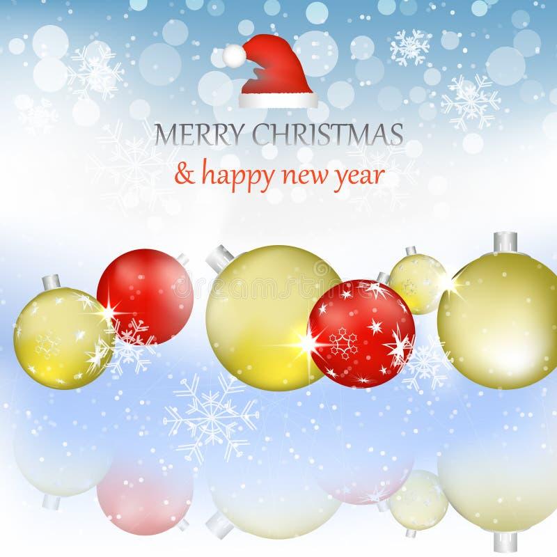 Download Fond De Noël Et De Nouvelle Année Illustration de Vecteur - Illustration du lustré, bille: 45370857