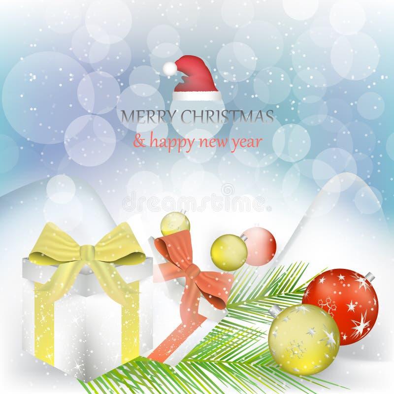 Download Fond De Noël Et De Nouvelle Année Illustration de Vecteur - Illustration du propre, décembre: 45370863
