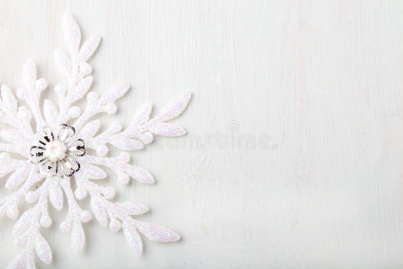 Fond de Noël et de nouvelle année snowflake Copiez l'espace photos libres de droits