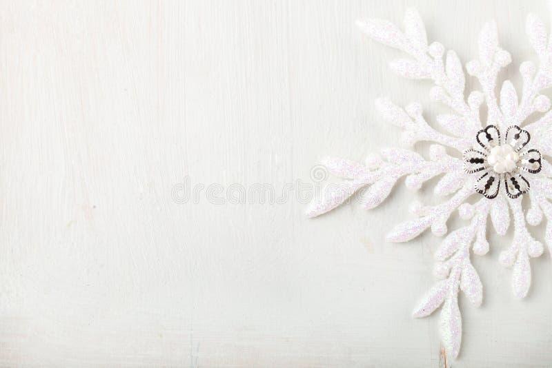 Fond de Noël et de nouvelle année snowflake Copiez l'espace images stock