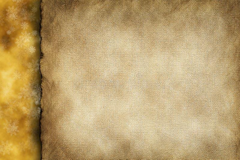Fond de Noël - feuille et flocons de neige de papier blanc photo libre de droits