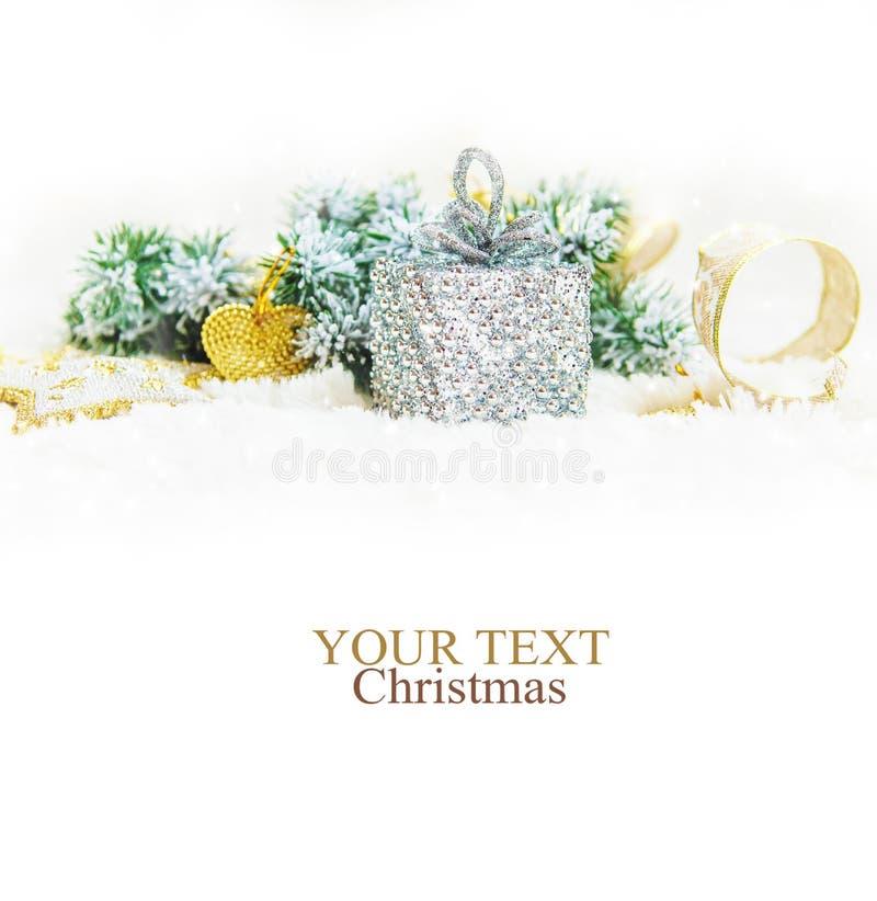 Fond de Noël An neuf heureux Foyer sélectif image stock