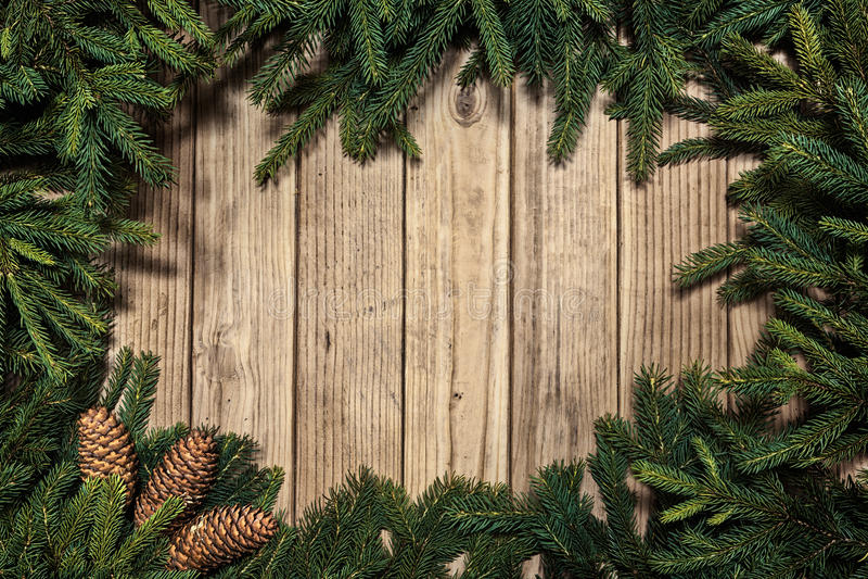 Fond de Noël sur une vieille table rustique en bois photos stock