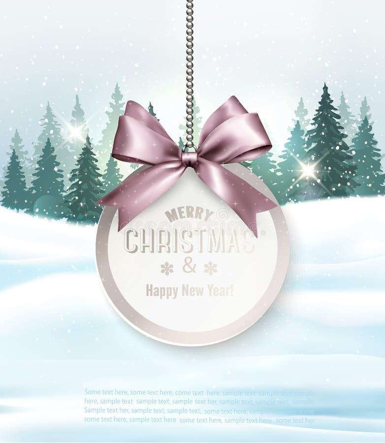 Fond de Noël de vacances avec obtenir la carte illustration libre de droits