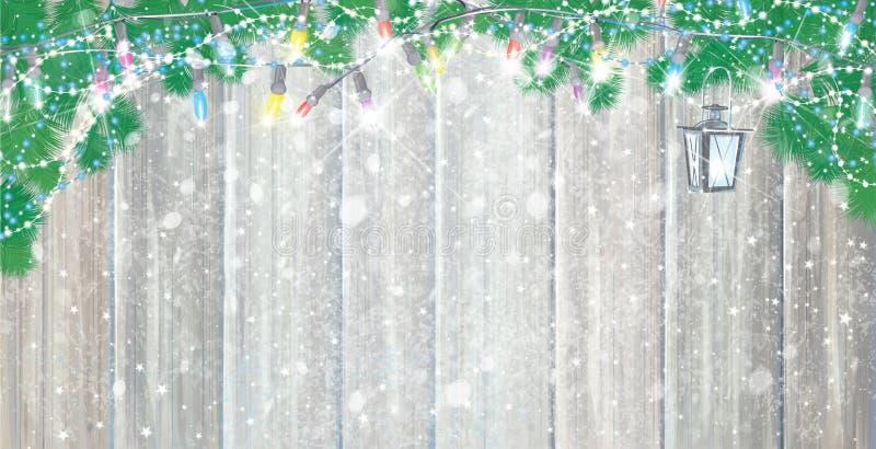 Fond de Noël de vecteur illustration libre de droits