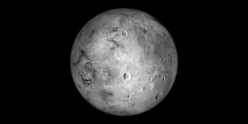 Fond de noir de système solaire de planète de darf de Haumea photos libres de droits