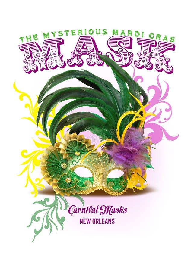 Fond de NOLA Collection Mardi Gras Mask photographie stock