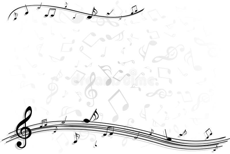 Fond de note de musique illustration libre de droits