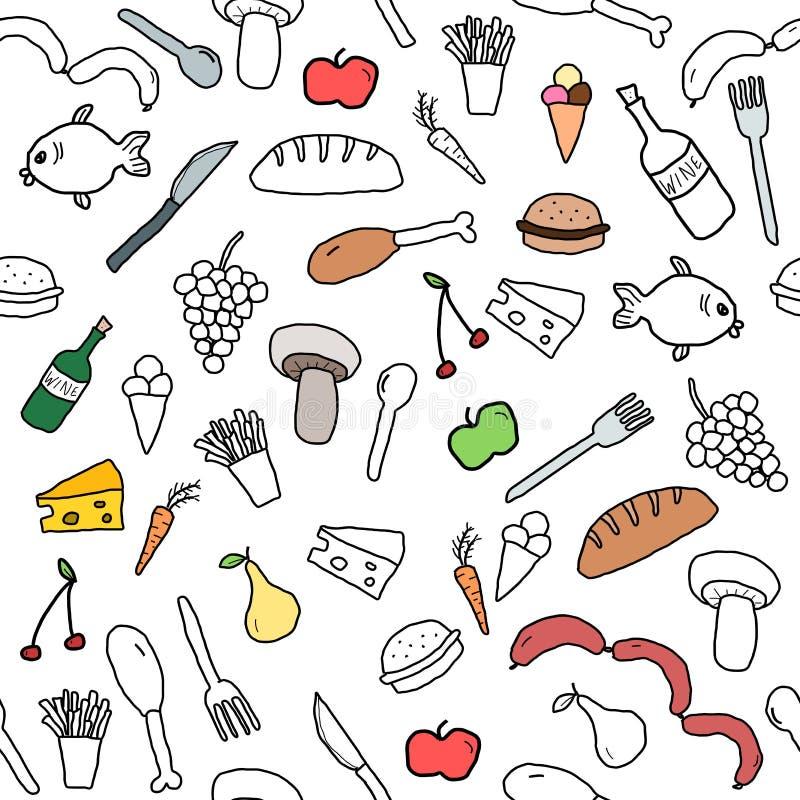 Fond de nourriture illustration libre de droits