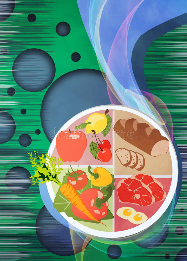 Fond de nourriture illustration stock