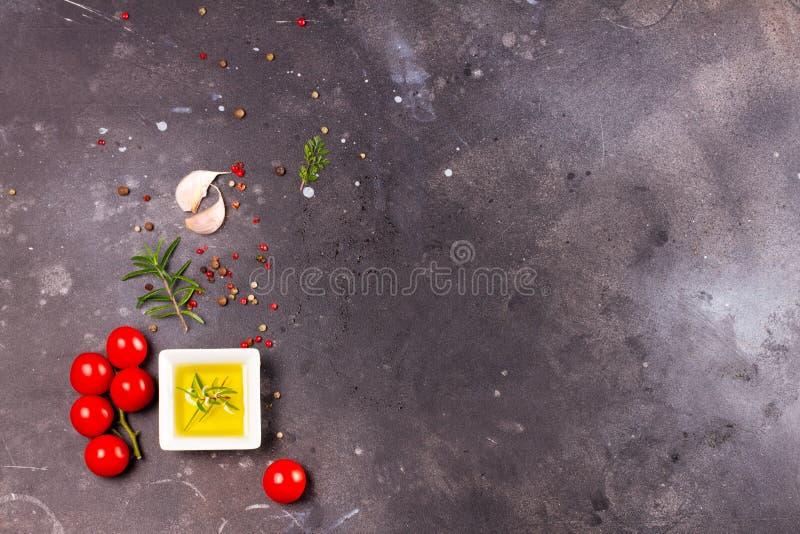 Fond de nourriture avec des épices photographie stock