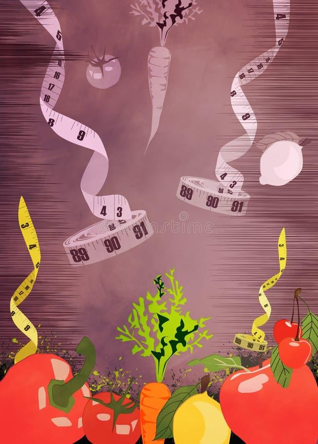 Fond de nourritures de régime illustration stock
