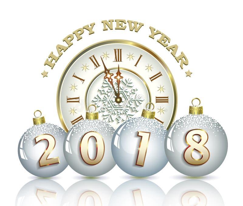 Fond 2018 de nouvelle année illustration libre de droits
