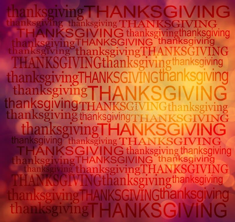 Fond de nuage de mot de thanksgiving photo libre de droits